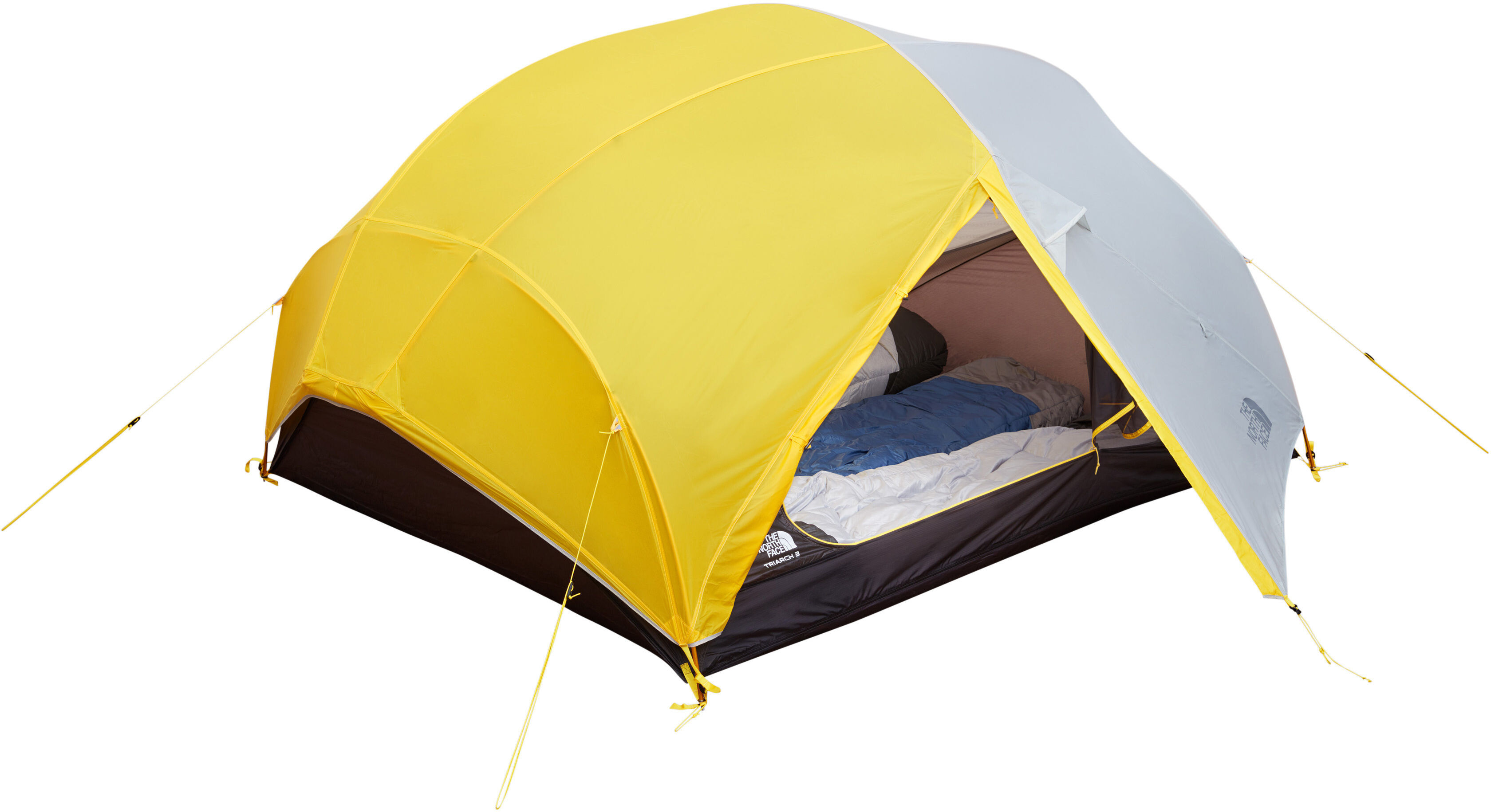d5ef51b055 The North Face Triarch 3 Tent canary yellow/high rise grey | campz.de